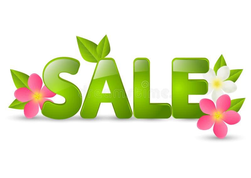 Mensaje de la venta de la primavera stock de ilustración