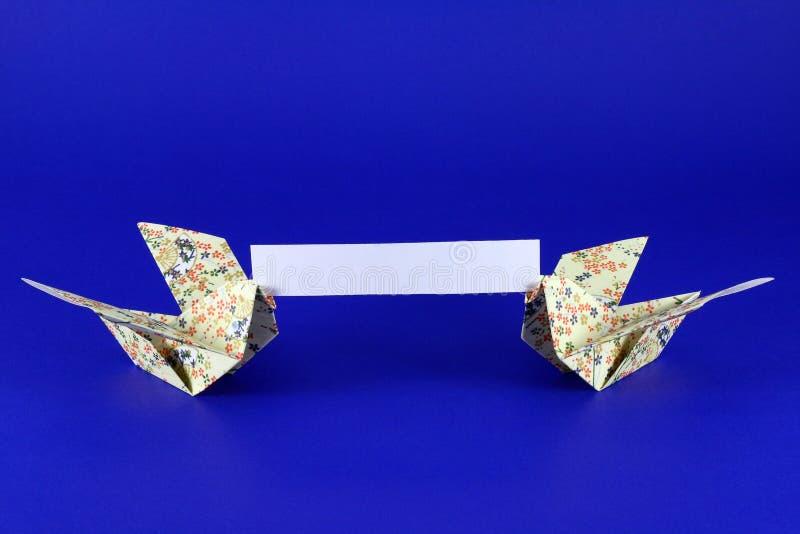 Mensaje de Origami imagen de archivo libre de regalías