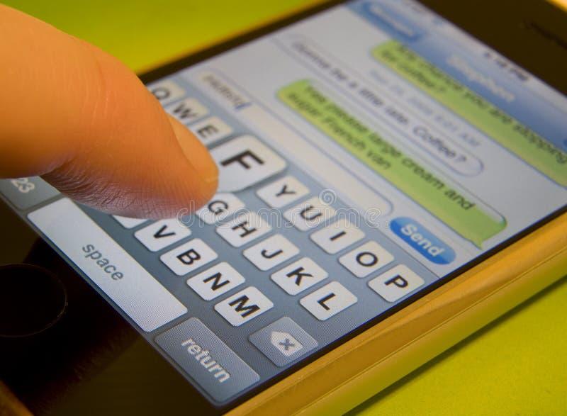 Mensaje de texto imágenes de archivo libres de regalías
