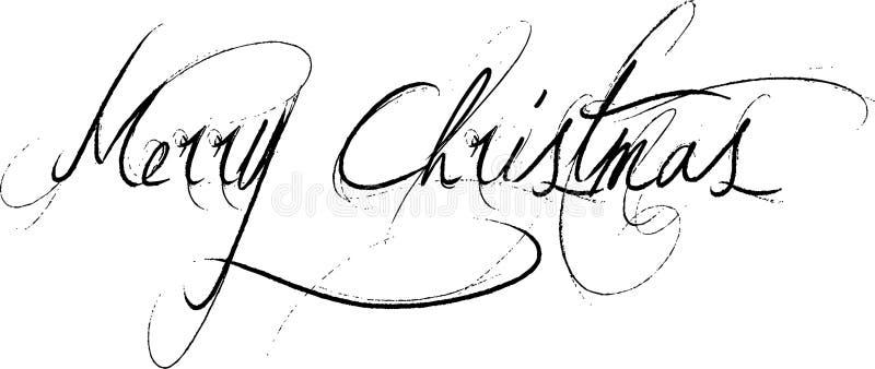 Mensaje de texto de la Feliz Navidad stock de ilustración