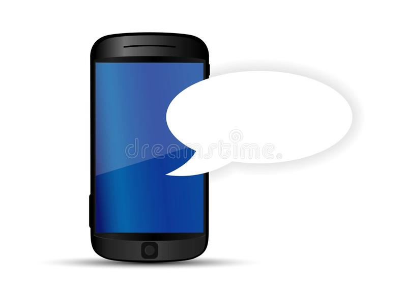 Mensaje de texto del teléfono móvil stock de ilustración