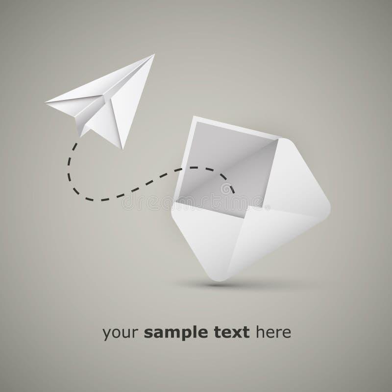 Mensaje de un sobre ilustración del vector