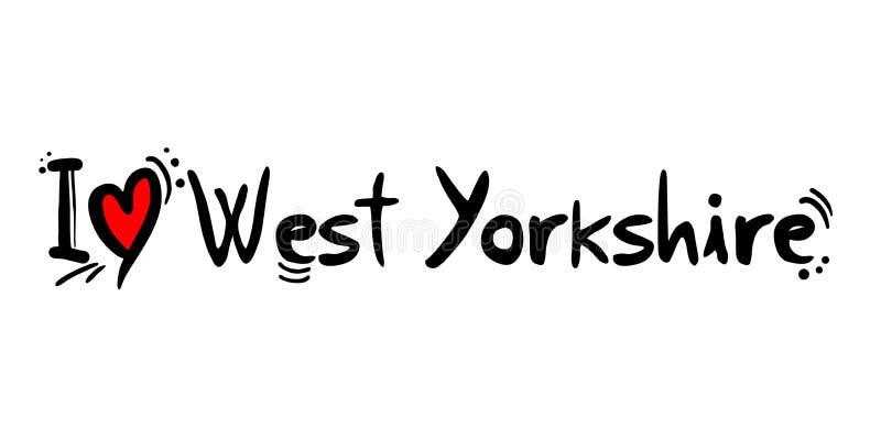 Mensaje del amor de la ciudad de West Yorkshire stock de ilustración