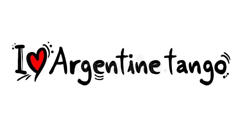 Mensaje del amor de la música del estilo del tango de Argentina ilustración del vector