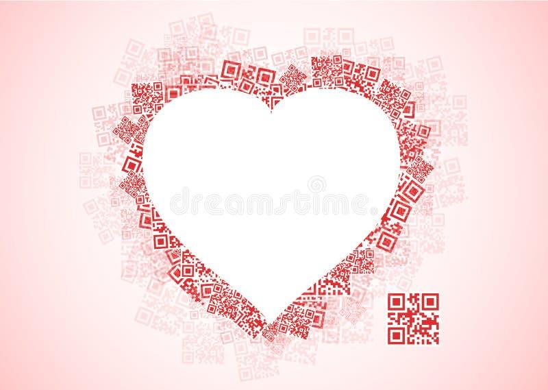 Mensaje del amor de QR stock de ilustración