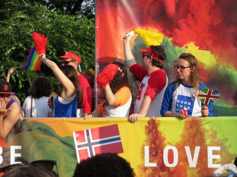 Mensaje del amor en Pride Parade en Washington DC foto de archivo libre de regalías