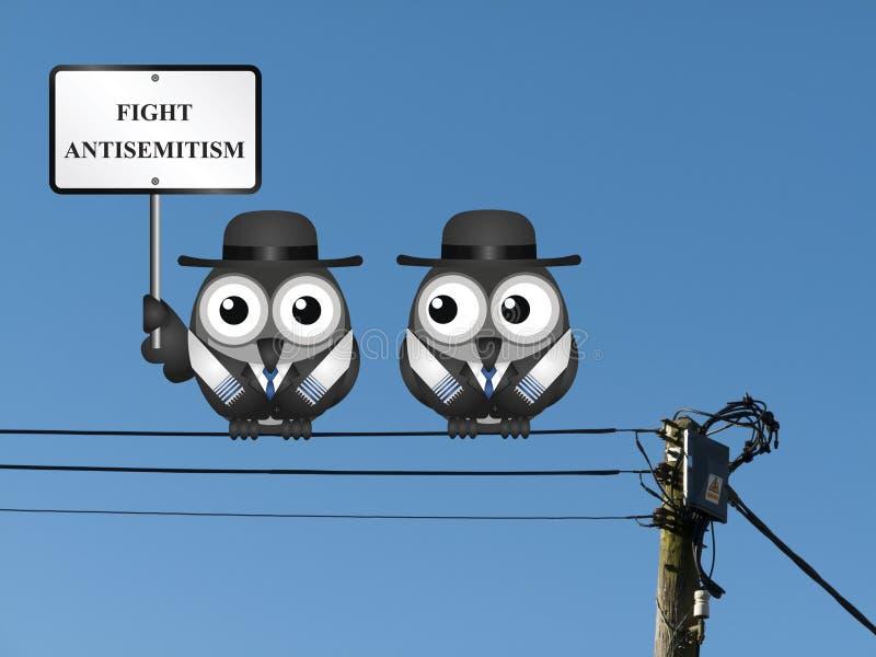 Mensaje del antisemitismo ilustración del vector