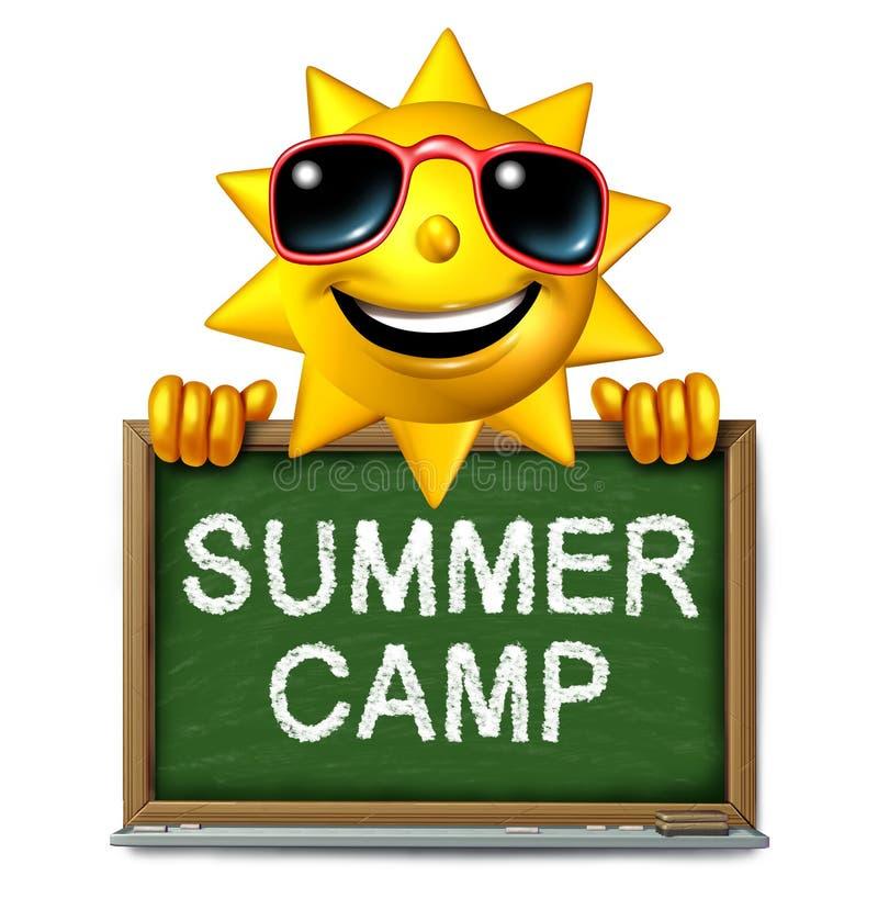 Mensaje del campamento de verano stock de ilustración