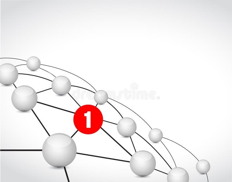 mensaje del concepto de la comunicación de la conexión de vínculo ilustración del vector