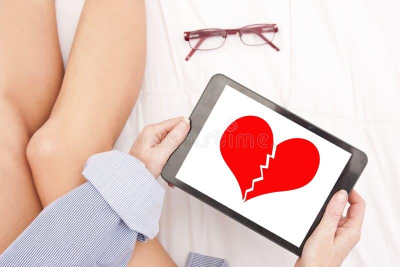 Mensaje del corazón roto fotos de archivo libres de regalías