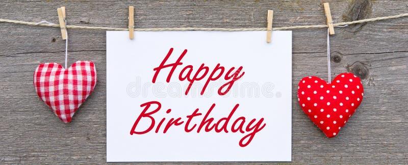Mensaje del feliz cumpleaños imagen de archivo libre de regalías