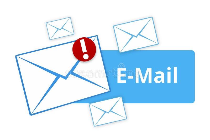 Mensaje del icono azul claro del correo electrónico nuevo ilustración del vector