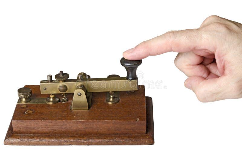 Mensaje del telégrafo fotografía de archivo
