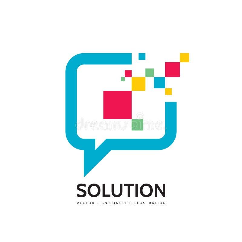 Mensaje - el discurso burbujea ejemplo del concepto del logotipo del vector en estilo plano Icono que habla del diálogo muestra d ilustración del vector