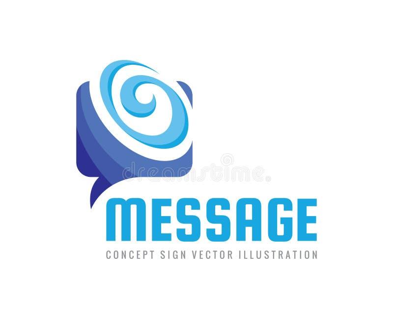 Mensaje - el discurso burbujea ejemplo del concepto del logotipo del vector Icono que habla del diálogo muestra de la charla Medi libre illustration