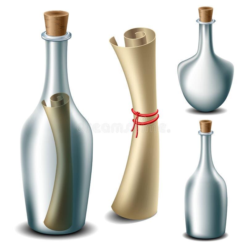 Mensaje en el sistema de la botella libre illustration