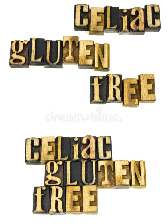 Mensaje libre del rabos de colada del gluten celiaco imagen de archivo