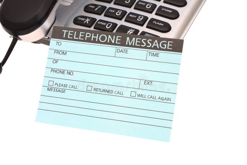 Mensaje telefónico fotografía de archivo libre de regalías