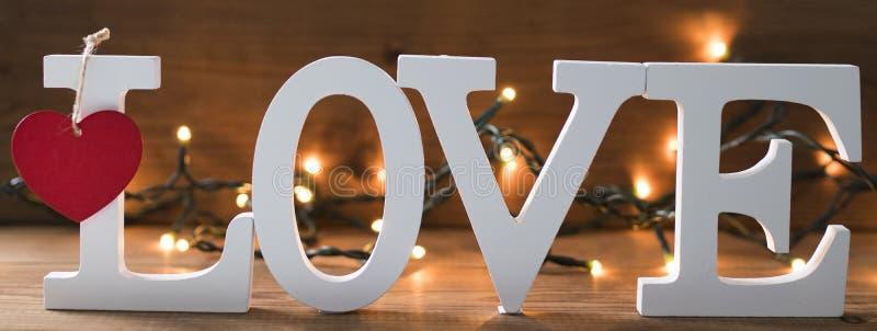 Mensaje y concepto del amor foto de archivo