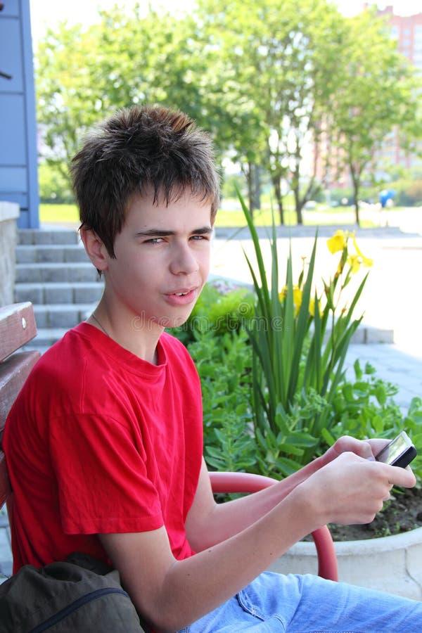 Mensajería Adolescente Fotos de archivo libres de regalías