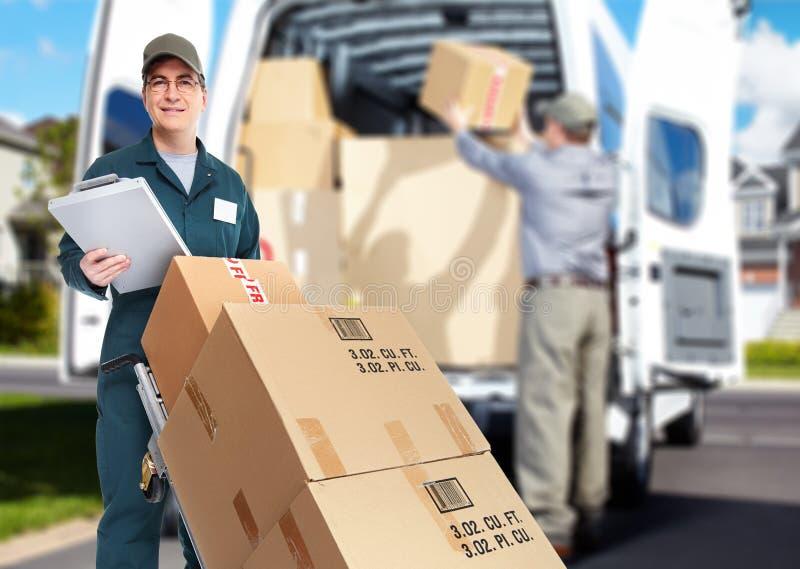 Mensajero de la entrega. fotografía de archivo libre de regalías