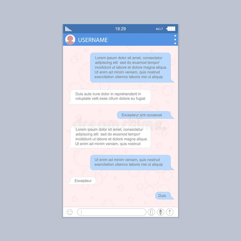 Mensajero social Form de la red para el diseño gráfico de la web y del App Vector libre illustration