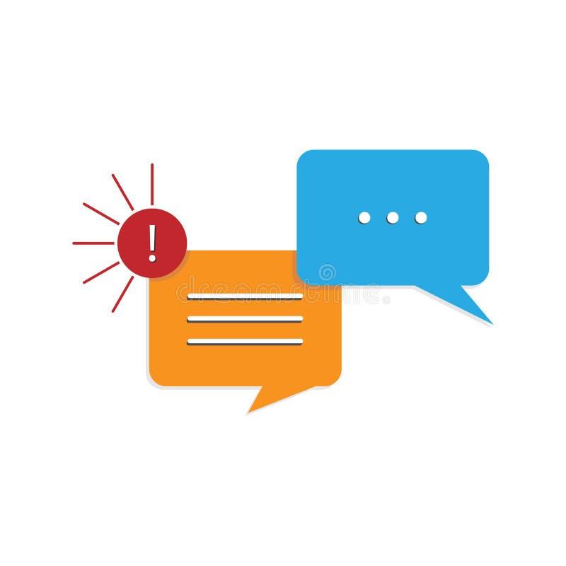 Mensajes de la nube en charla o diálogo de la charla stock de ilustración