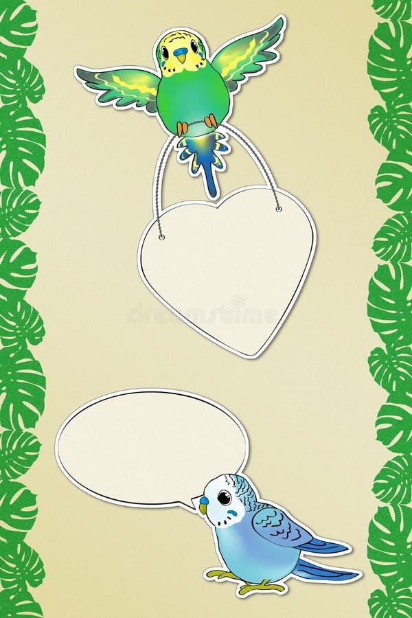Mensajes divertidos 2 de Budgies libre illustration