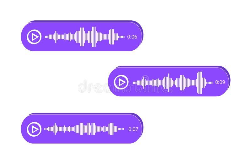 Mensajes isométricos, notificación de eventos de la voz stock de ilustración