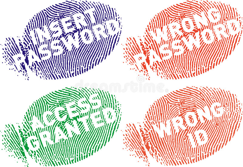 mensajes surtidos fingerprint7 ελεύθερη απεικόνιση δικαιώματος