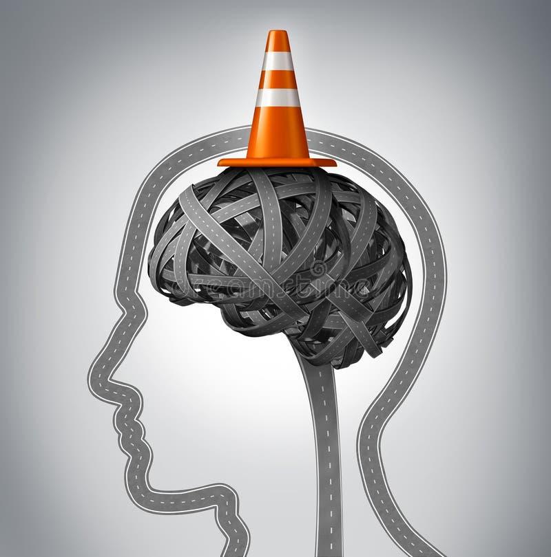 Mensch Brain Repair lizenzfreie abbildung