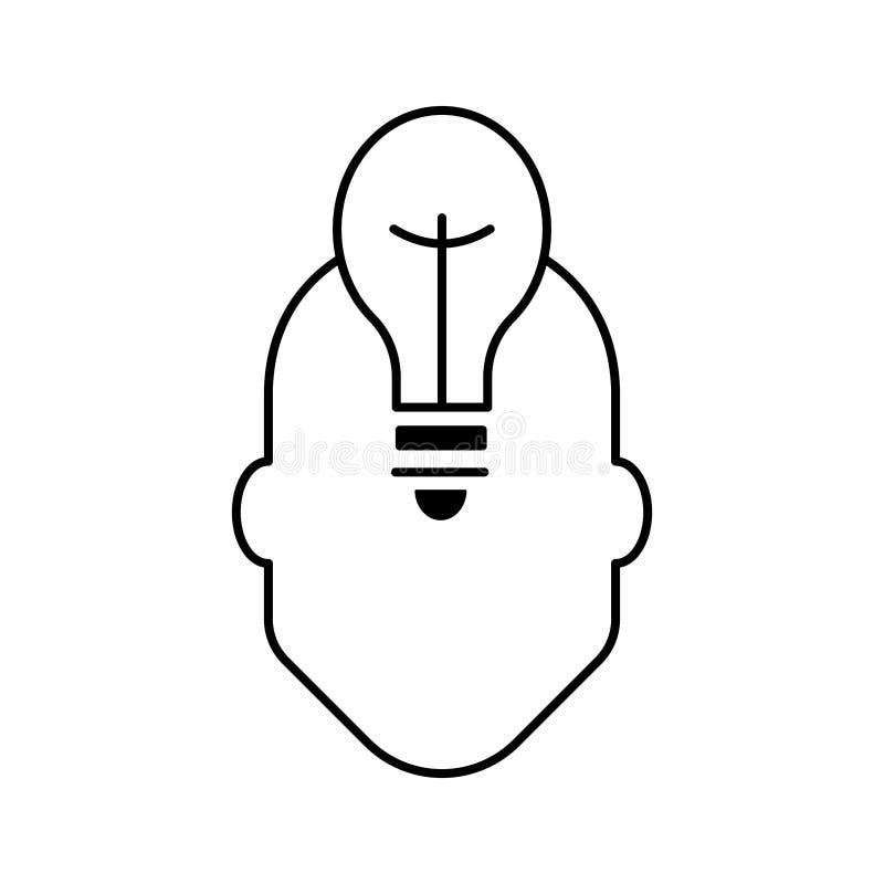 Mensch und Ideenweiß stock abbildung