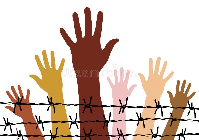 Menschenrechte lizenzfreie abbildung