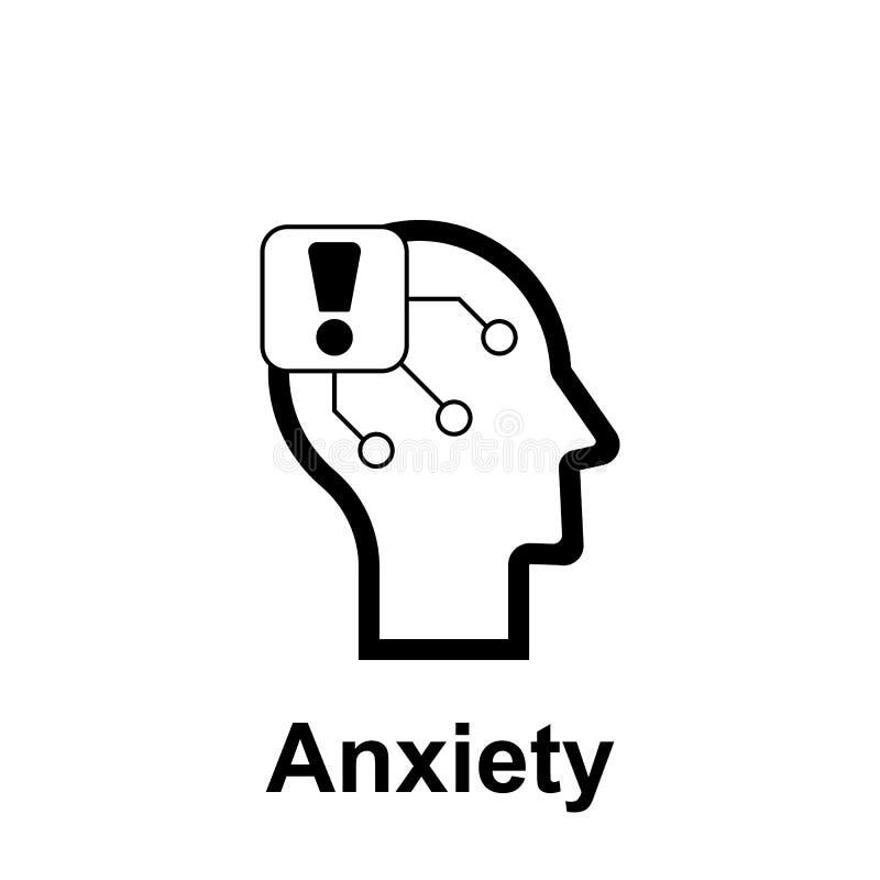 Menschenverstand, Angstikone Element der Menschenverstandikone f?r bewegliche Konzept und Netz apps Dünne Linie Menschenverstand, stock abbildung