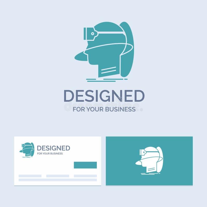 menschlich, Mann, Wirklichkeit, Benutzer, virtuell, vr Geschäft Logo Glyph Icon Symbol für Ihr Geschäft T?rkis-Visitenkarten mit  vektor abbildung