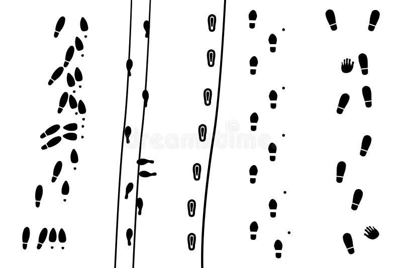 Menschliche Drucke vektor abbildung