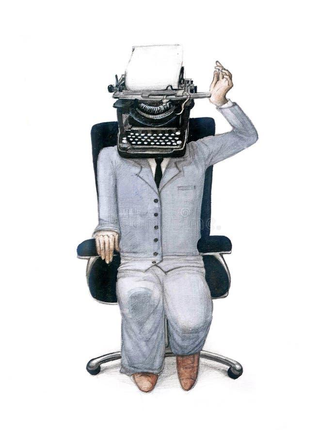 Menschliche Druckenmaschine lizenzfreie abbildung