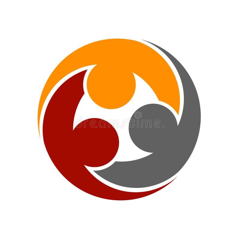 Menschliche Gemeinschaftsrundes Symbol vektor abbildung