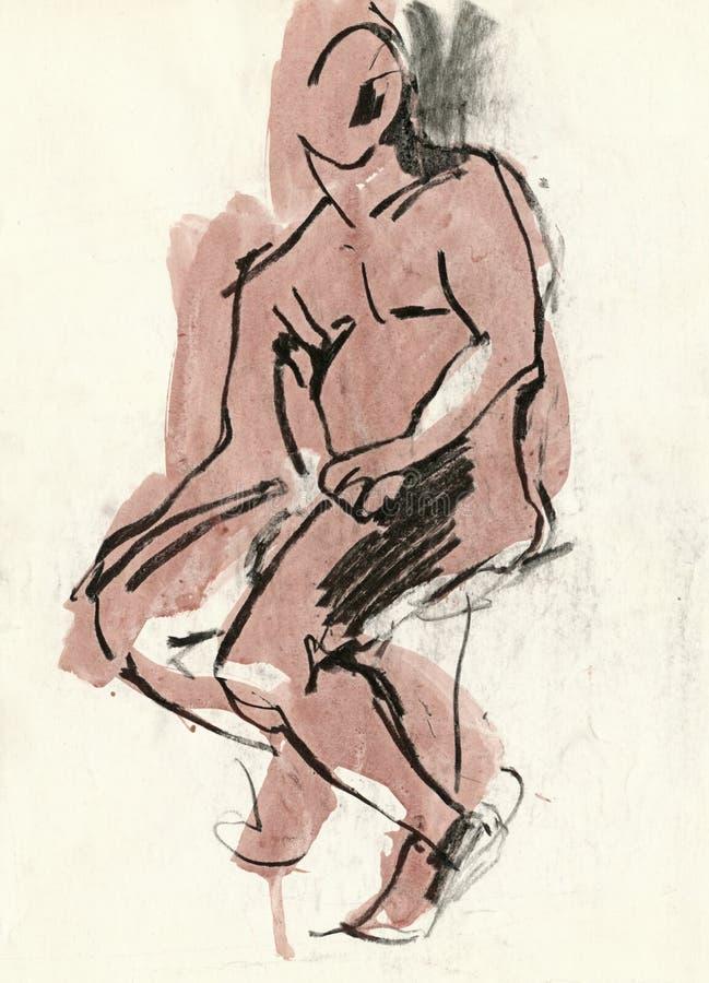 Menschliche Haltung, 1 zeichnend vektor abbildung