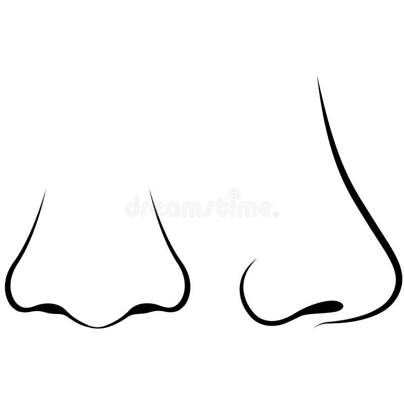 Menschliche Nase stock abbildung. Illustration von schön - 58491210