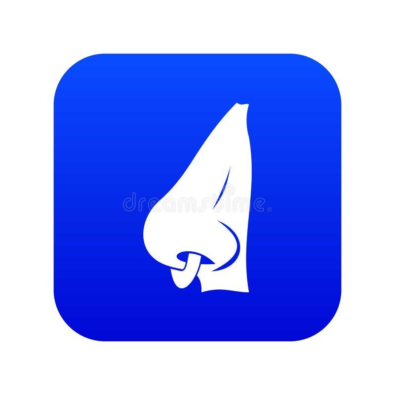 Menschliche Nase mit durchbohrendem digitalem Blau der Ikone vektor abbildung