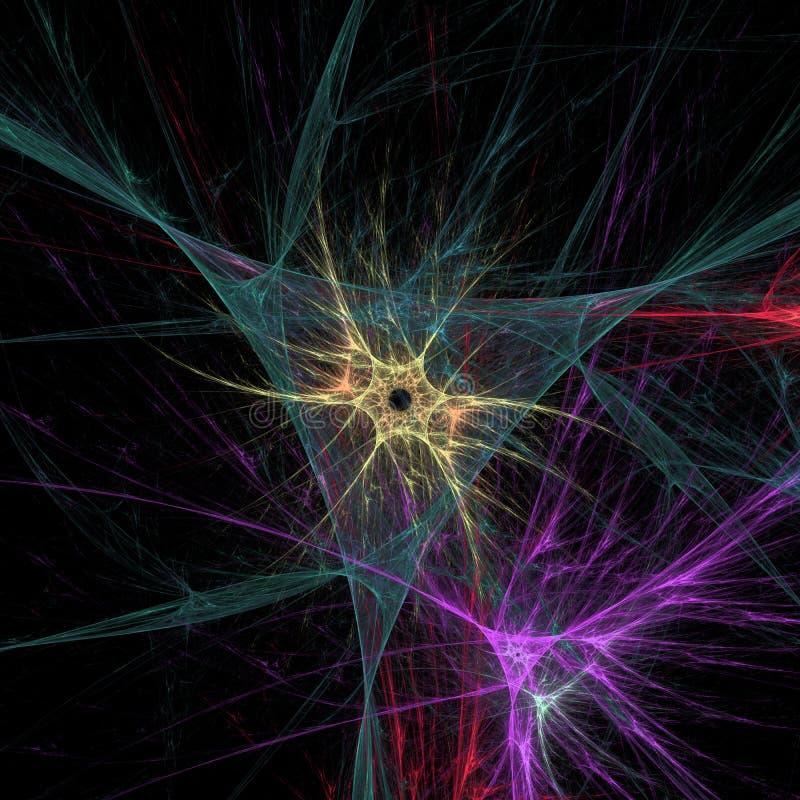 Menschliche Neuronen im Gehirn lizenzfreie abbildung