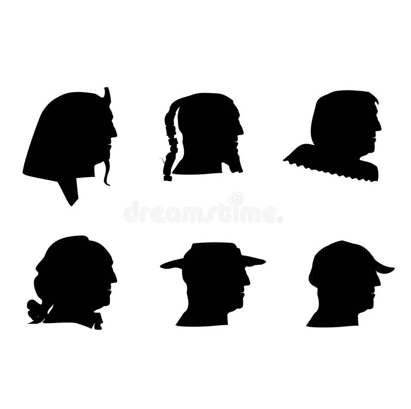 Menschliche Profile lizenzfreies stockbild