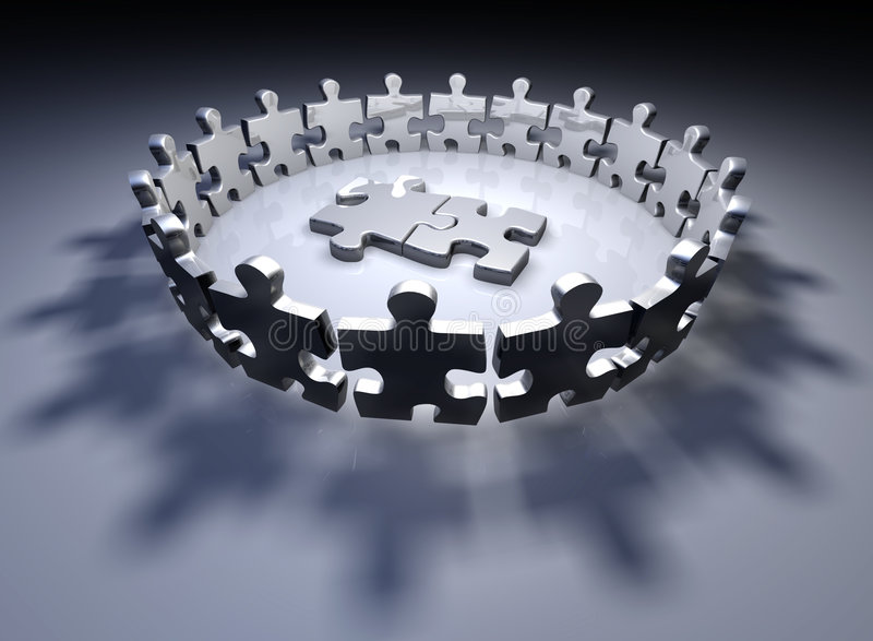 Menschliche Puzzlespielstücke lizenzfreie abbildung