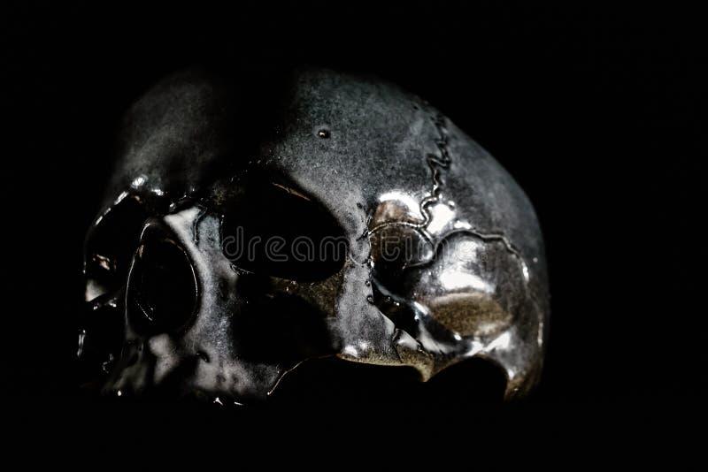 Menschliche Schädelnahaufnahme stockbilder