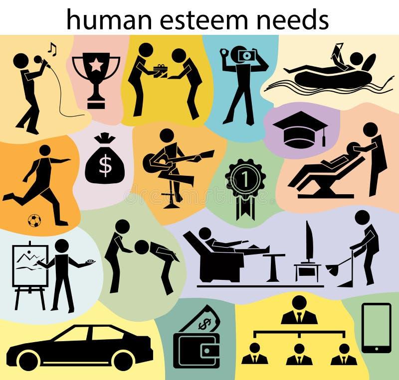 Menschlicher Achtungsbedarf stock abbildung