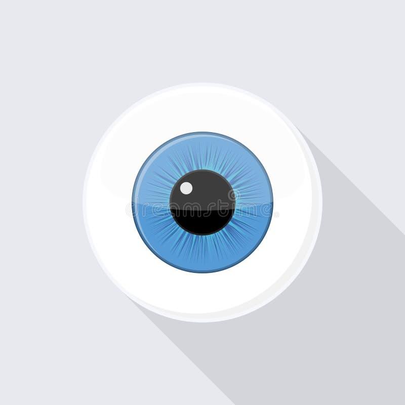 Menschlicher Augapfel Auge mit hellem Blau lizenzfreie abbildung