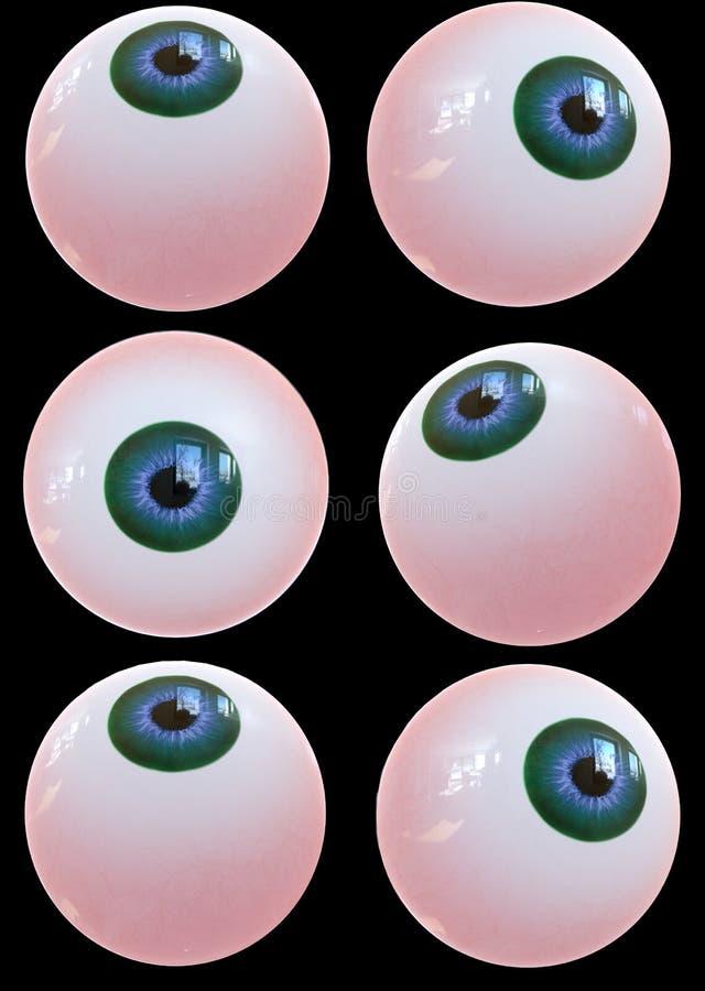 Menschlicher Augapfel 3d übertragen lizenzfreie abbildung