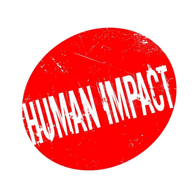 Menschlicher Auswirkungsstempel stock abbildung