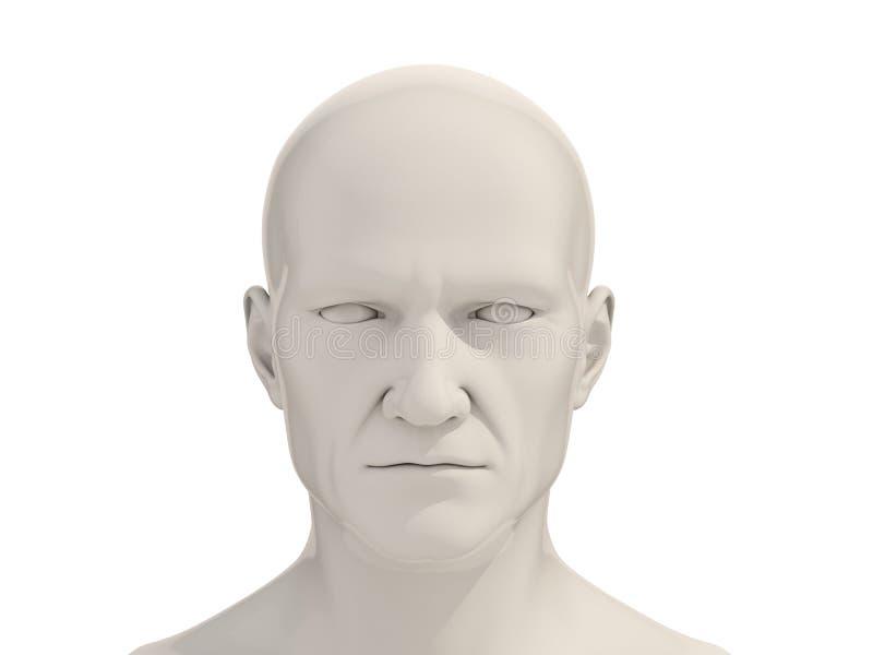 Menschlicher Kopf lokalisiert stockfotos